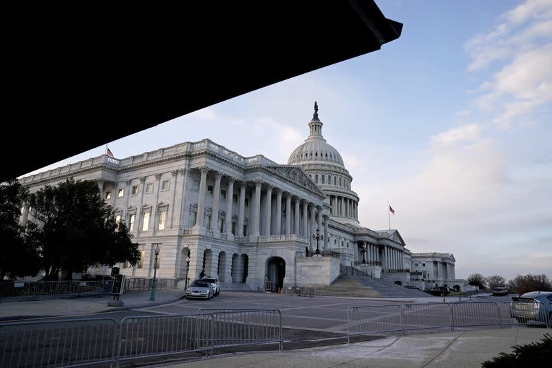 FILE PHOTO: A view of the U.S. Capitol Building in Washington
