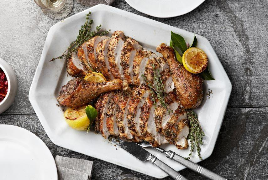 """<p>This menu has all our most flavorful recipes, such as cranberry sauce with a hint of orange<strong>, </strong>dressing with bay leaf and sage, and salad with slightly bitter chicory.</p><p><strong>Main Course:</strong></p><p><a href=""""https://www.countryliving.com/food-drinks/recipes/a4248/perfect-roast-turkey-herbes-de-provence-recipe-clv1112/"""" rel=""""nofollow noopener"""" target=""""_blank"""" data-ylk=""""slk:The Perfect Roast Turkey with Herbes-de-Provence Rub"""" class=""""link rapid-noclick-resp"""">The Perfect Roast Turkey with Herbes-de-Provence Rub</a></p><p><strong>Sides:</strong></p><p><a href=""""https://www.countryliving.com/food-drinks/recipes/a4235/spiced-cranberry-sauce-orange-star-anise-recipe-clv1112/"""" rel=""""nofollow noopener"""" target=""""_blank"""" data-ylk=""""slk:Spiced Cranberry Sauce with Orange Star Anise"""" class=""""link rapid-noclick-resp"""">Spiced Cranberry Sauce with Orange Star Anise</a></p><p><a href=""""https://www.countryliving.com/food-drinks/recipes/a4234/wild-rice-basmati-dressing-sausage-sage-recipe-clv1112/"""" rel=""""nofollow noopener"""" target=""""_blank"""" data-ylk=""""slk:Wild Rice and Basmati Dressing with Sausage and Sage"""" class=""""link rapid-noclick-resp"""">Wild Rice and Basmati Dressing with Sausage and Sage</a></p><p><a href=""""https://www.countryliving.com/food-drinks/recipes/a4230/edythe-newmans-matzo-stuffing-recipe-clv1112/"""" rel=""""nofollow noopener"""" target=""""_blank"""" data-ylk=""""slk:Edyth Newman's Matzo Stuffing"""" class=""""link rapid-noclick-resp"""">Edyth Newman's Matzo Stuffing</a></p><p><a href=""""https://www.countryliving.com/food-drinks/recipes/a4251/ruby-red-grapefruit-chicory-salad-recipe-clv1112/"""" rel=""""nofollow noopener"""" target=""""_blank"""" data-ylk=""""slk:Ruby Red Grapefruit and Chicory Salad"""" class=""""link rapid-noclick-resp"""">Ruby Red Grapefruit and Chicory Salad</a></p><p><a href=""""https://www.countryliving.com/recipefinder/light-fluffy-carrot-souffles-recipe-clv1112"""" rel=""""nofollow noopener"""" target=""""_blank"""" data-ylk=""""slk:Light and Fluffy Carrot Soufflé"""" class=""""link rapid-noclick-resp"""">Light """