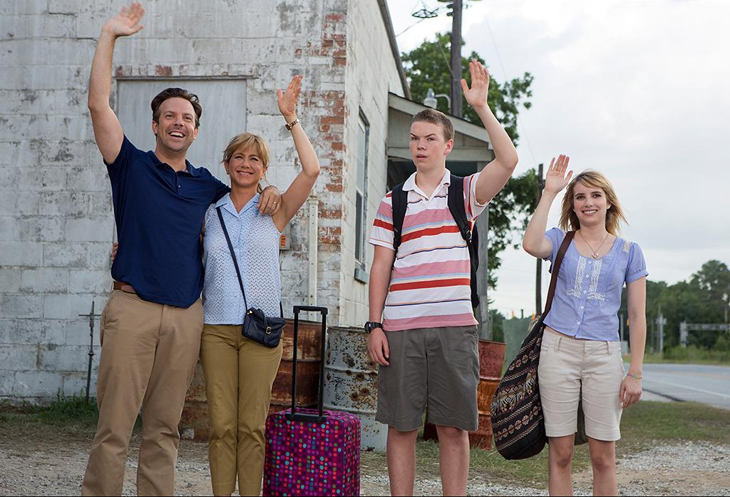 """Jason Sudeikis, Jennifer Aniston,Will Poulter, and Emma Roberts, and in Warner Bros.' """"We're The Millers"""" - 2013"""