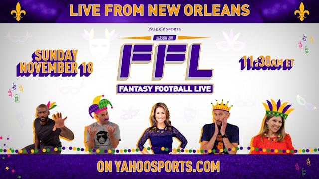 The 'Fantasy Football Live' crew will be taking the show to New Orleans in Week 11.