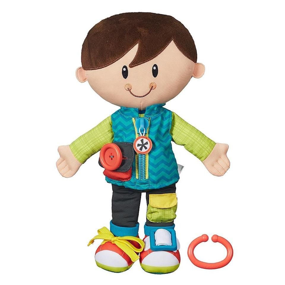 "<p>Learning how to do zippers, buttons, and buckles is essential to the preschool years and Playskool's <a href=""https://www.popsugar.com/buy/Dressy-Kids-Dolls-105128?p_name=Dressy%20Kids%20Dolls&retailer=amazon.com&pid=105128&price=19&evar1=moms%3Aus&evar9=25800161&evar98=https%3A%2F%2Fwww.popsugar.com%2Fphoto-gallery%2F25800161%2Fimage%2F38970013%2FPlayskool-Dressy-Kids&list1=gifts%2Choliday%2Cgift%20guide%2Cparenting%2Ctoddlers%2Clittle%20kids%2Ckid%20shopping%2Choliday%20living%2Choliday%20for%20kids%2Cgifts%20for%20toddlers%2Cbest%20of%202019&prop13=api&pdata=1"" class=""link rapid-noclick-resp"" rel=""nofollow noopener"" target=""_blank"" data-ylk=""slk:Dressy Kids Dolls"">Dressy Kids Dolls</a> ($19) are a fun way to learn. Available in both boy and girl versions, the dolls help tots learn how to zip, button, buckle, fasten, and tie in as covert a way as possible</p>"
