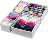 <p>You'll always know where everything is with these <span>Simple Houseware Organizer Drawer Dividers</span> ($16 for 4). Store your bras and delicates properly with care with these drawer dividers.</p>
