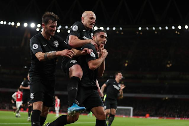 Maupay's heroics stole the points for Potter's men. (Photo by James Williamson - AMA/Getty Images)