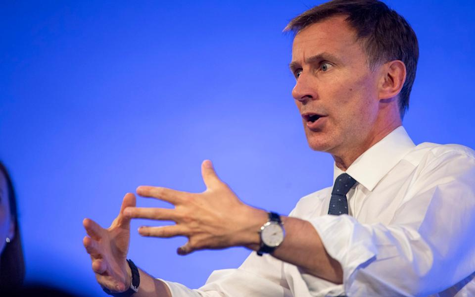 Former Health Secretary Jeremy Hunt  -  Paul Grover
