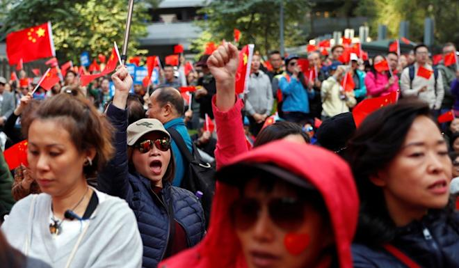 Pro-establishment activists believe the results of the district council elections are tainted. Photo: Reuters