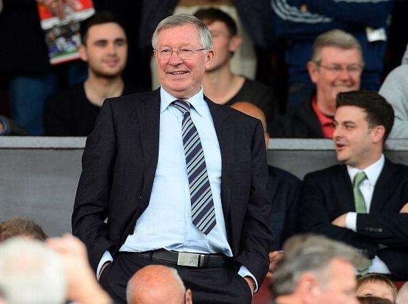 Sir Alex Ferguson watches Manchester United's match against Southampton