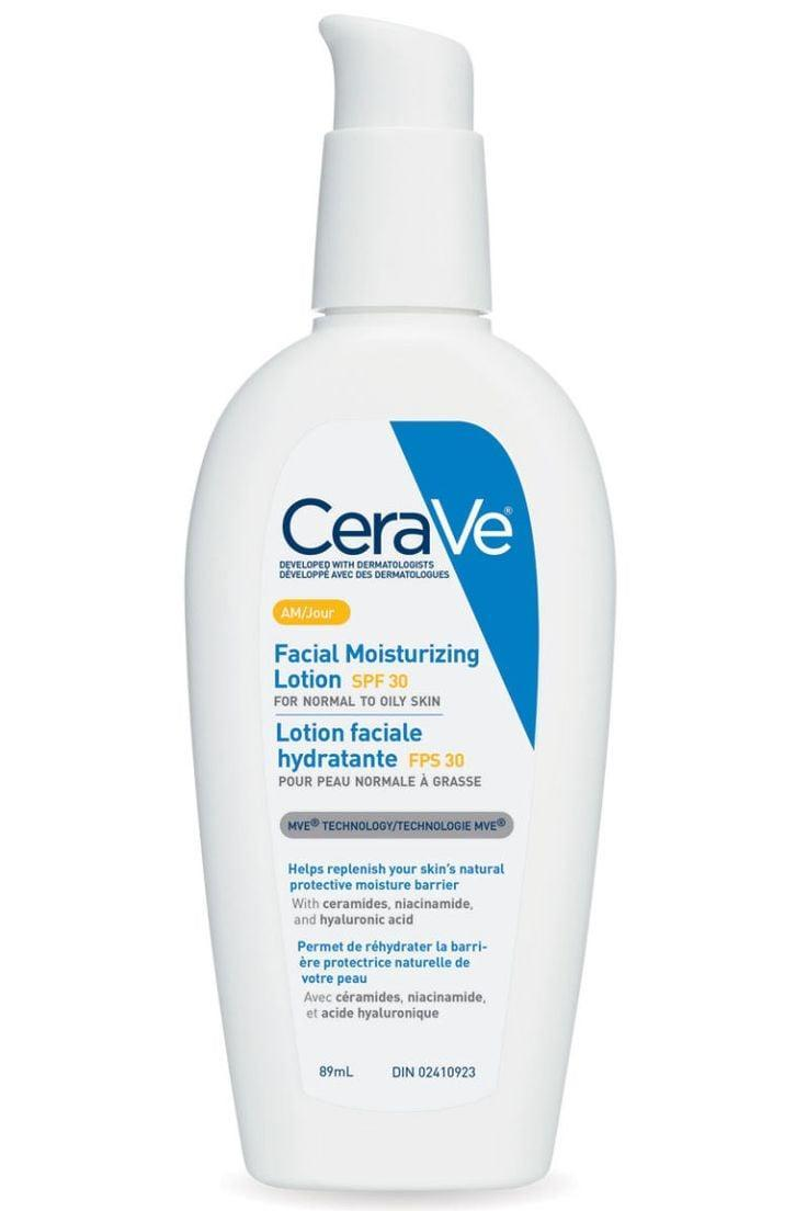 <p>This <span>CeraVe Facial Moisturizing Lotion</span> ($12) is a good fit for your morning routine. It's formulated with hyaluronic acid to help keep your skin's natural moisture locked in all day without feeling oily. It also has SPF 30 so you can put it on before your makeup routine and protect your skin throughout the day. </p>