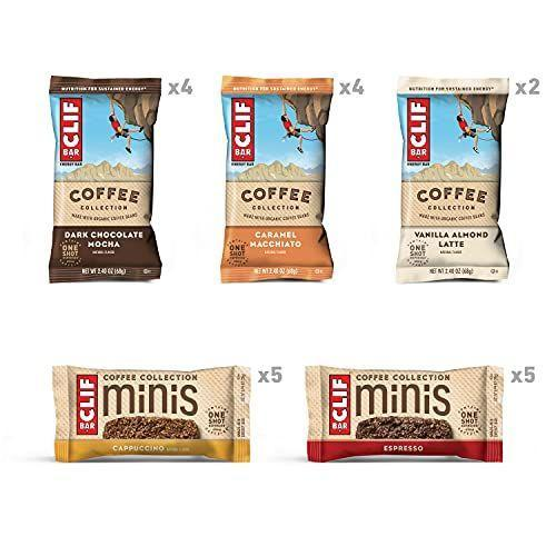 """<p><strong>Clif Bar</strong></p><p>amazon.com</p><p><strong>$19.99</strong></p><p><a href=""""https://www.amazon.com/dp/B08VK687Y6?tag=syn-yahoo-20&ascsubtag=%5Bartid%7C10063.g.37661227%5Bsrc%7Cyahoo-us"""" rel=""""nofollow noopener"""" target=""""_blank"""" data-ylk=""""slk:Shop Now"""" class=""""link rapid-noclick-resp"""">Shop Now</a></p><p>If you need a boost of energy midday but don't have time for a cup of coffee, these on-the-go bars are packed with the same amount of caffeine as a shot of espresso. </p>"""
