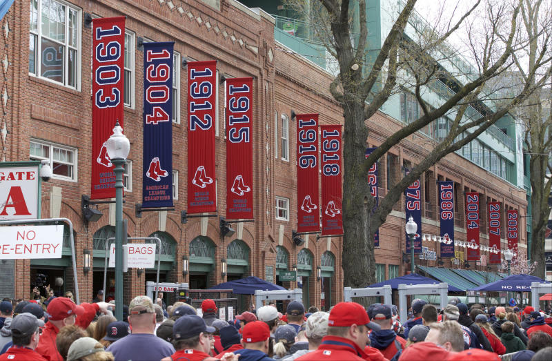 Yawkey Way, the famous street outside Boston's Fenway Park, could soon have a new name. (USA Today Sports / Reuters)