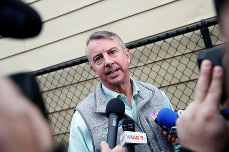 Republican candidate for Governor of Virginia Ed Gillespie speaks with reporters after voting at Washington Mill Elementary School in Alexandria, Virginia, U.S., November 7, 2017. REUTERS/Aaron P. Bernstein