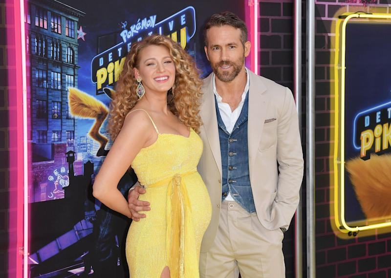 Blake Lively revealed her third pregnancy at the premiere of 'Pokemon Detective Pikachu' in NYC [Photo: Getty]