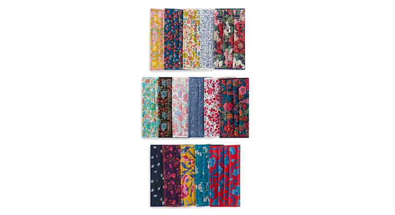 Assorted Upcycled Tana Lawn™ Cotton Face Coverings Set of Five