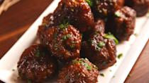 "<p>You'll be licking the sauce spoon, it's so good.</p><p>Get the recipe from <a href=""https://www.delish.com/cooking/recipe-ideas/recipes/a55775/dr-pepper-meatballs-recipe/"" rel=""nofollow noopener"" target=""_blank"" data-ylk=""slk:Delish"" class=""link rapid-noclick-resp"">Delish</a>.</p>"