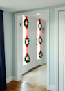 """<p>Have longer windows in need of decoration? Just string three wreaths together for an easy fix.</p><p><strong>Get the tutorial at <a href=""""https://design-fixation.com/2017/11/easy-christmas-wreath-window-display-sponsored.html"""" rel=""""nofollow noopener"""" target=""""_blank"""" data-ylk=""""slk:Design Fixation"""" class=""""link rapid-noclick-resp"""">Design Fixation</a>.</strong></p><p><strong><a class=""""link rapid-noclick-resp"""" href=""""https://www.amazon.com/Creative-Co-op-DA5819-Preserved-Boxwood/dp/B01CL5AOYI/?tag=syn-yahoo-20&ascsubtag=%5Bartid%7C10050.g.23343056%5Bsrc%7Cyahoo-us"""" rel=""""nofollow noopener"""" target=""""_blank"""" data-ylk=""""slk:SHOP SMALL WREATHS"""">SHOP SMALL WREATHS</a><br></strong></p>"""