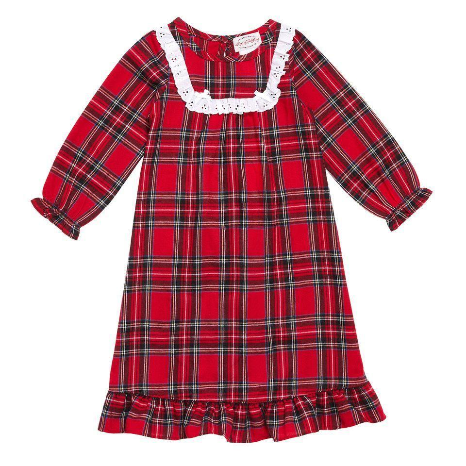 """<p><strong>Lanz of Salzburg</strong></p><p>lanzofsalzburg.com</p><p><strong>$30.00</strong></p><p><a href=""""https://www.lanzofsalzburg.com/collections/family/products/toddler-red-tartan-nightgown"""" rel=""""nofollow noopener"""" target=""""_blank"""" data-ylk=""""slk:Shop Now"""" class=""""link rapid-noclick-resp"""">Shop Now</a></p><p>A classic pjs moment.</p>"""