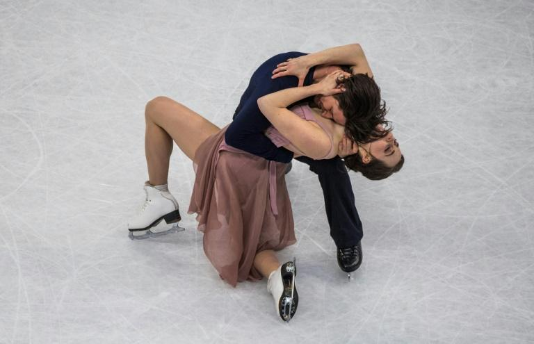 Canada's Tessa Virtue and Scott Moir compete to win the Ice Dance/Free Dance event at the ISU World Figure Skating Championships in Helsinki, on April 1, 2017