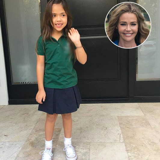 "<p>Denise Richards is a veteran of back to school — she has three girls. This year is extra special though because it's ""my baby's first day of kindergarten!!!"" Here's little Eloise looking ready to take on the world. (Photos: <a href=""https://www.instagram.com/p/BYrL97QhlBH/?hl=en&taken-by=deniserichards"" rel=""nofollow noopener"" target=""_blank"" data-ylk=""slk:Denise Richards via Instagram"" class=""link rapid-noclick-resp"">Denise Richards via Instagram</a>/Getty Images) </p>"