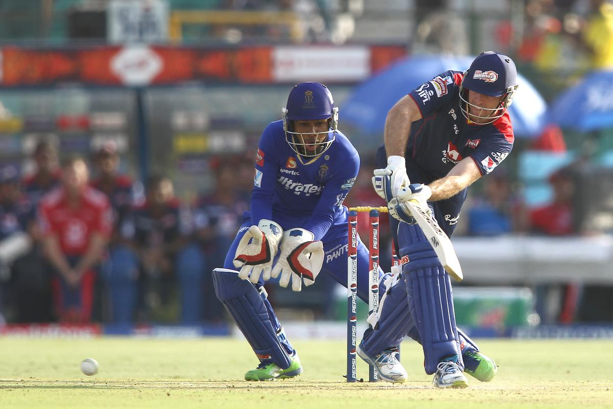 Ben Rohrer of Delhi Daredevils plays a delivery through the leg side during match 52 of the Pepsi Indian Premier League (IPL) 2013 between The Rajasthan Royals and the Delhi Daredevils held at the Sawai Mansingh Stadium in Jaipur on the 7th May 2013..Photo by Shaun Roy-IPL-SPORTZPICS  ..Use of this image is subject to the terms and conditions as outlined by the BCCI. These terms can be found by following this link:..https://ec.yimg.com/ec?url=http%3a%2f%2fwww.sportzpics.co.za%2fimage%2fI0000SoRagM2cIEc&t=1506151668&sig=lIZ6wgpSjiH43zJ.79fnKQ--~D
