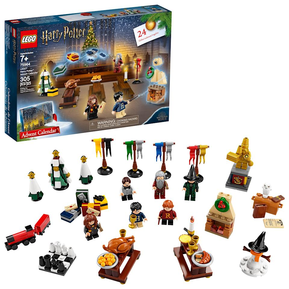 "<h3>LEGO Harry Potter 2019 Advent Calendar</h3><br>This advent cal of LEGO minis of iconic characters and trinkets from the Harry Potter universe is sure to warm the heart of its recipient – yes, even if they're a Slytherin.<br><br><strong>LEGO</strong> Harry Potter 2019 Advent Calendar, $, available at <a href=""https://go.skimresources.com/?id=30283X879131&url=https%3A%2F%2Fwww.walmart.com%2Fip%2FLEGO-Harry-Potter-2019-Advent-Calendar-75964%2F444811274%3F"" rel=""nofollow noopener"" target=""_blank"" data-ylk=""slk:Walmart"" class=""link rapid-noclick-resp"">Walmart</a>"