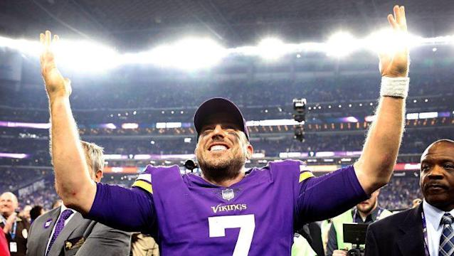 Vikings quarterback Case Keenum hopes to become just the third undrafted quarterback to ever start a Super Bowl. (Getty Images)