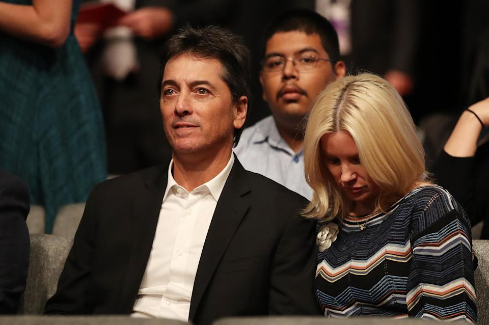 Scott Baio and his wife, Renee Sloan, attend the third U.S. presidential debate on October 19, 2016, in Las Vegas. (Photo: Drew Angerer/Getty Images)