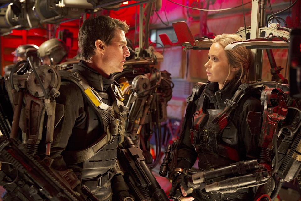 Tom Cruise and Emily Blunt in Edge of Tomorrow, 2014.