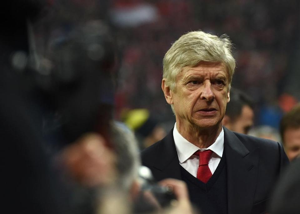 Arsenal's manager Arsene Wenger arrives at the stadium ahead of their UEFA Champions League round of 16 match against Bayern Munich, in Munich, on February 15, 2017 (AFP Photo/Christof Stache)