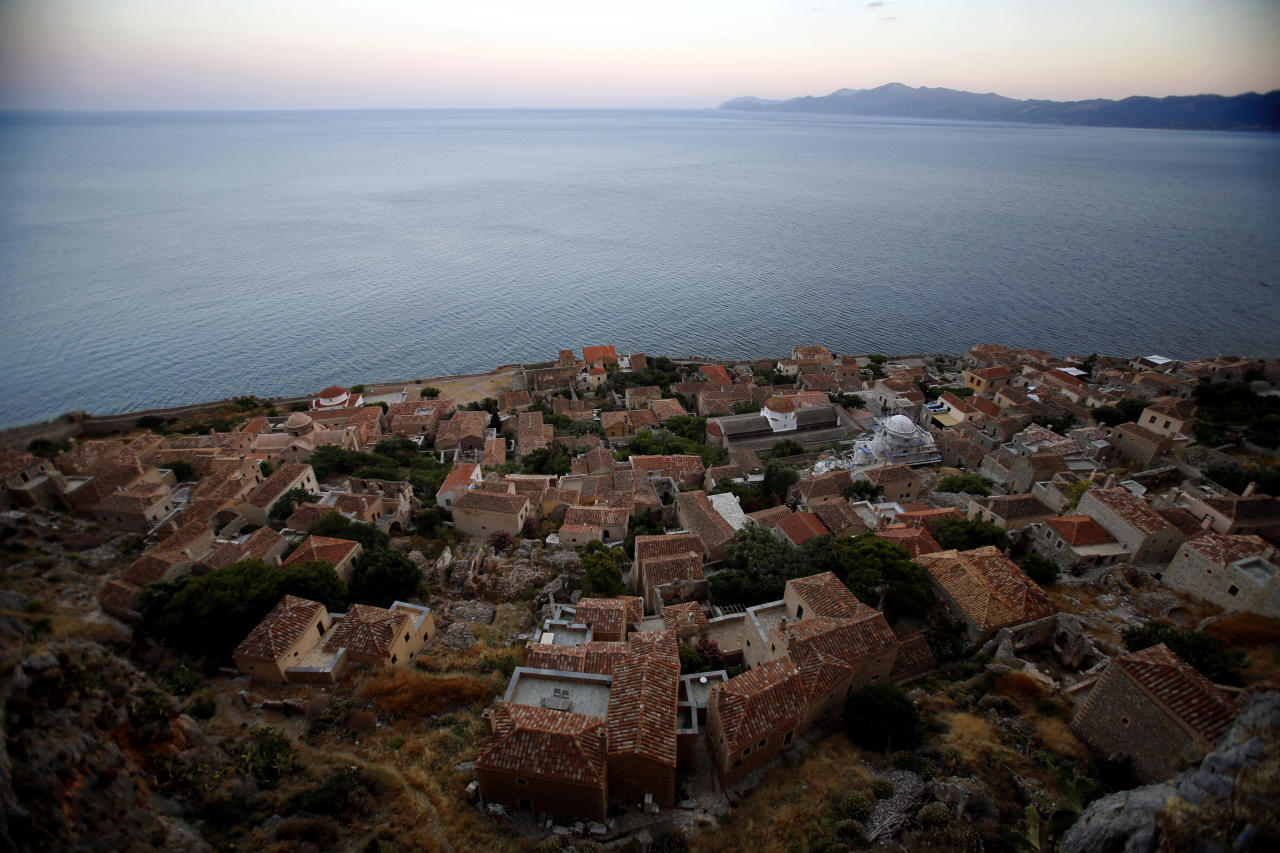 General view of old Monemvasia town from atop the medieval fortress Yannis Behrakis / Reuters