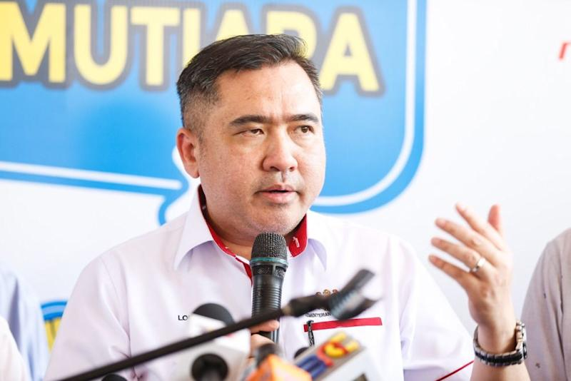 Transport Minister Anthony Loke speaks during the launch of the Mutiara Pass in George Town August 23, 2019. ― Picture by Sayuti Zainudin