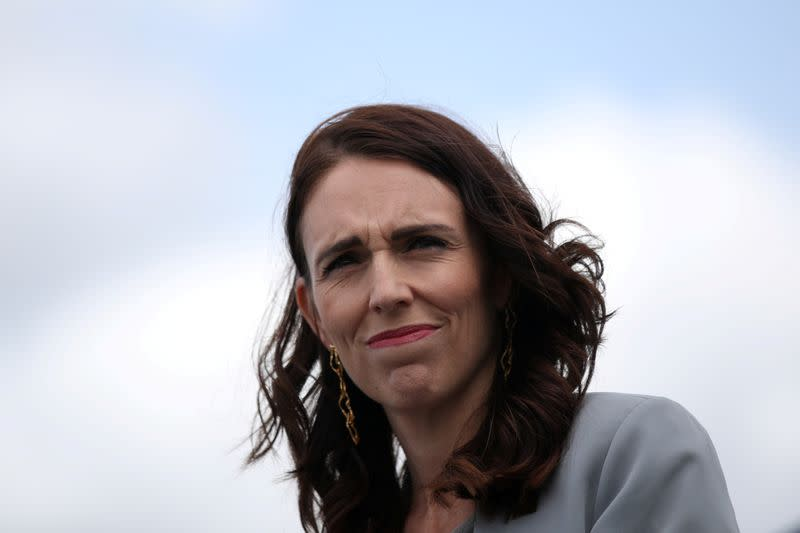 FILE PHOTO: New Zealand Prime Minister Ardern is seen during a joint press conference at Admiralty House in Sydney