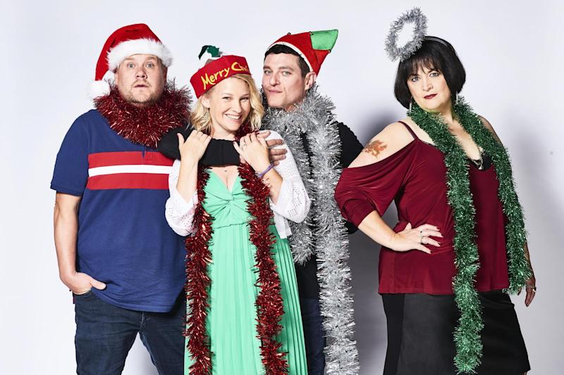 They're back: Smithy, Stacey, Gavin and Nessa will be on our screens for Christmas: BBC/GS TV Productions Ltd/Tom Jackson