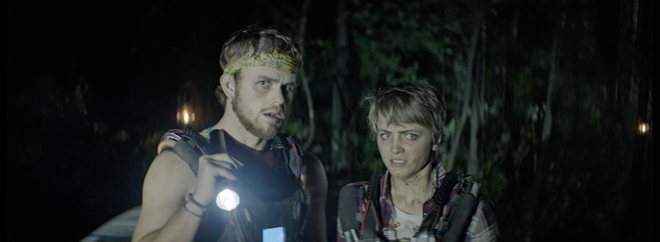 """Cameron Scott and Reine Swart play confidantes who team up when a group of friends are mysteriously strapped with time bombs and pitted against each other in """"Triggered."""""""