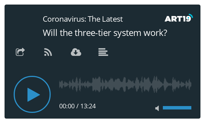 Coronavirus podcast - Will the three-tier system work?