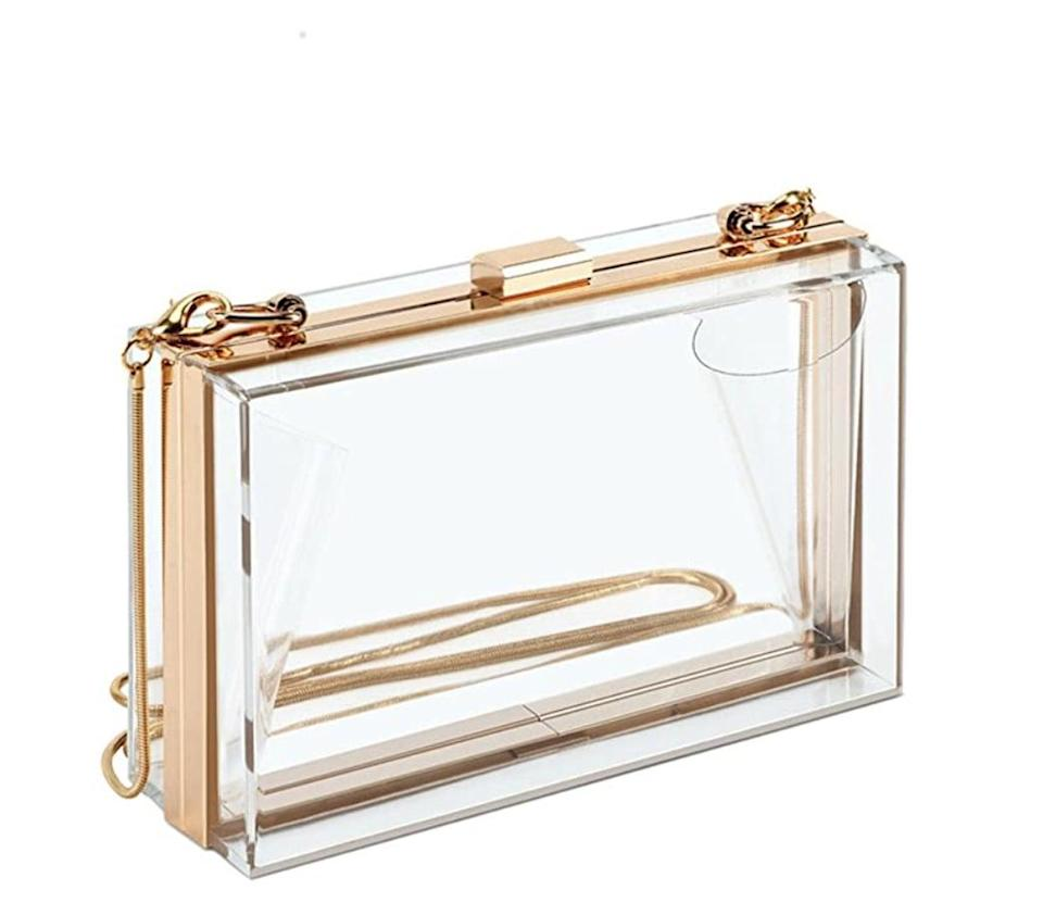 <p>If you're feeling brave, show out with this affordable <span>Sharplus Acrylic Clutch</span> ($22). The clear bag trend seems to still be going strong, and we're not mad about it.</p>