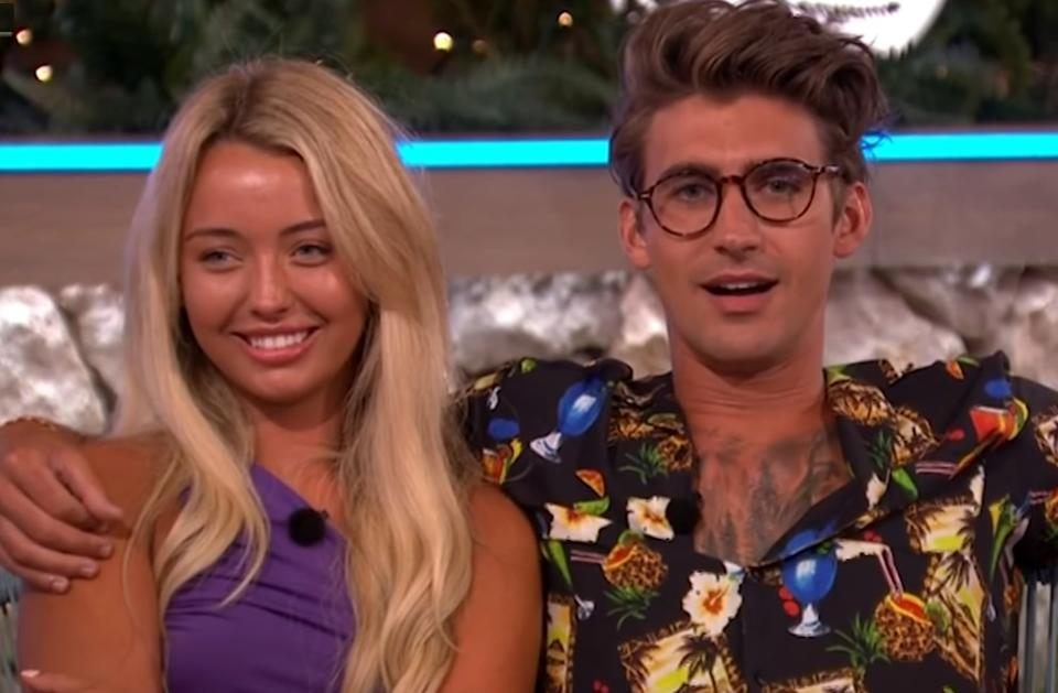 'Love Island' stars Harley Brash and Chris Taylor have called it quits on their 'exclusive' relationship (ITV)