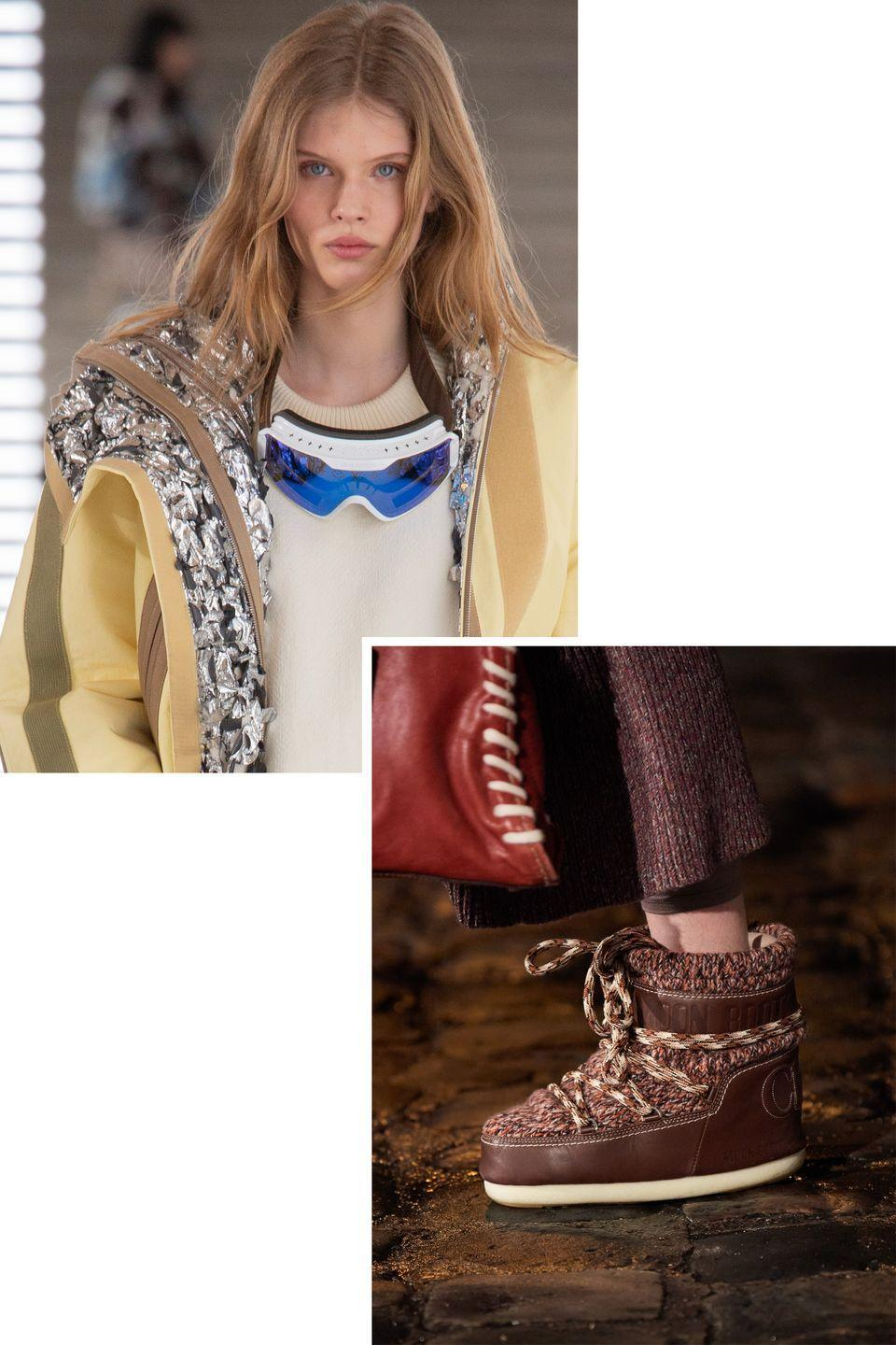 <p>Ski accessories come down the slope and become Fall's most unexpected wardrobe pairing, lending an instant sporty touch. </p><p><strong>Insider tip: </strong>Let one piece speak at a time for maximum impact.</p><p><em>Pictured: Miu Miu and Louis Vuitton</em></p>
