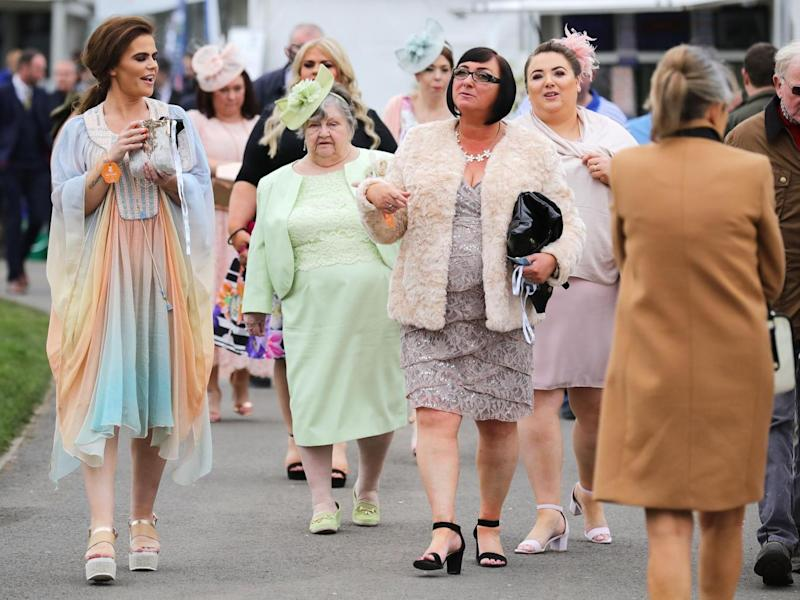 Punters arriving at Aintree on Thursday morning (Getty)
