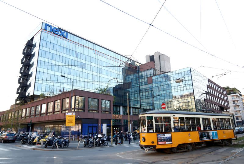 FILE PHOTO: The headquarters of the Italian payments group Nexi are pictured in Milan