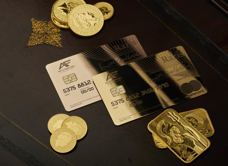 The Mastercard payment card will be made from 18-karat gold.