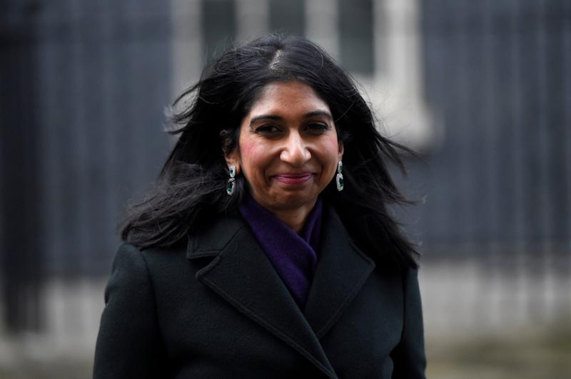 Britain's Attorney General Suella Braverman leaves 10 Downing Street on Thursday: Getty images