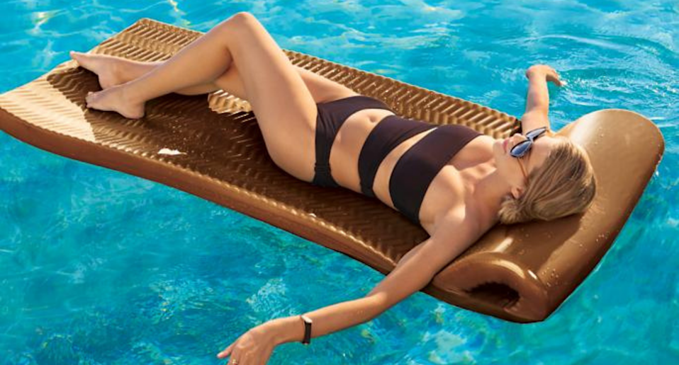 Save up to 20% on outdoor essentials at Frontgate, including the World's Finest Pool Float. Image via Frontgate.