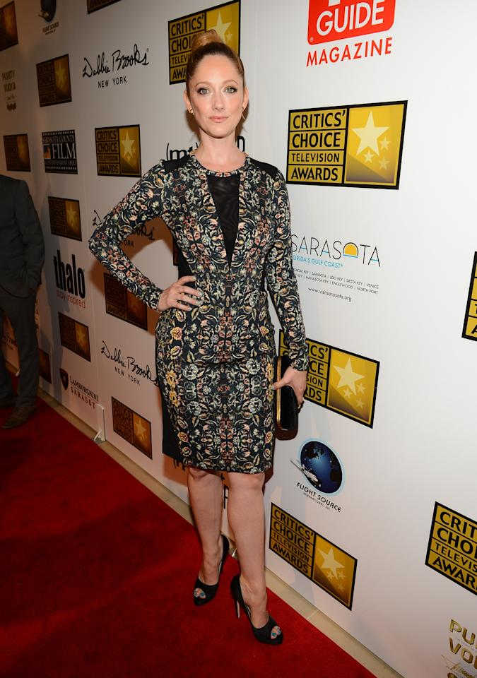 LOS ANGELES, CA - JUNE 10:  Actress Judy Greer arrives at Broadcast Television Journalists Association's third annual Critics' Choice Television Awards at The Beverly Hilton Hotel on June 10, 2013 in Beverly Hills, California.  (Photo by Mark Davis/Getty Images for CCTA)