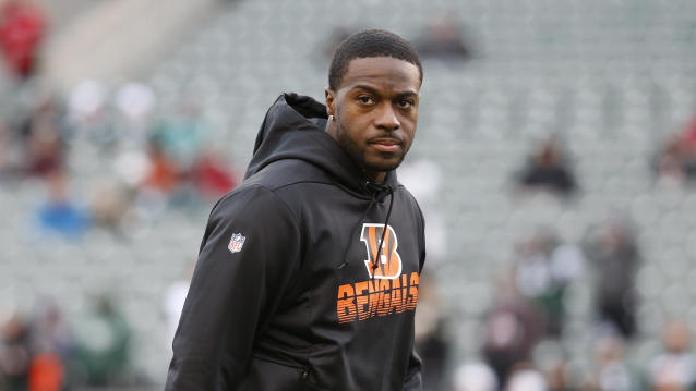 Cincinnati Bengals wide receiver A.J. Green practices before an NFL football game against the New York Jets, Sunday, Dec. 1, 2019, in Cincinnati. (AP Photo/Frank Victores)