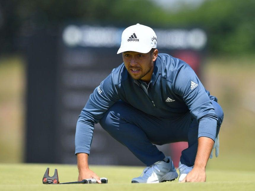 Xander Schauffele lines up a putt at the Scottish Open (Getty Images)