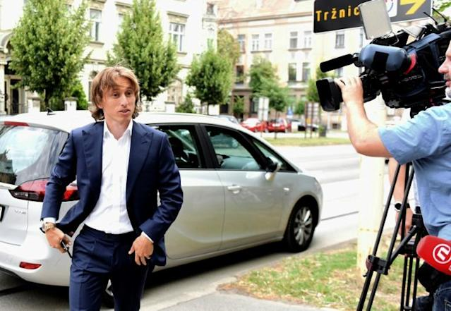 Real Madrid midfielder Luka Modric attending court in Osijek, Croatia last year to testify in the multi-million-euro corruption trial against ex-Dinamo Zagreb chief Zdravko Mamic