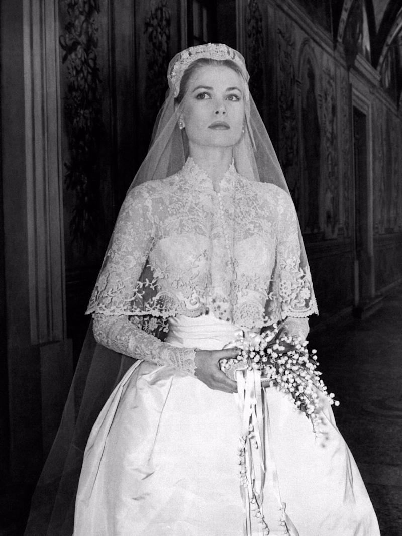 She said she drew inspiration for the design from Grace Kelly. Source: Getty