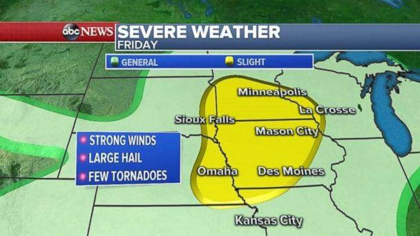 Severe weather will be possible on Friday in the Upper Midwest. (ABC News)