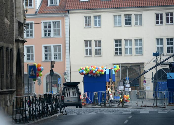 Streets in central Braunschweig along which the carnival parade had been due to pass (AFP Photo/Peter Steffen)