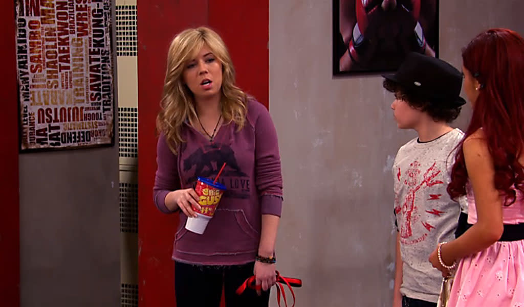 "Sam (Jennette McCurdy) in the ""Sam & Cat"" episode, ""#NewGoat."""