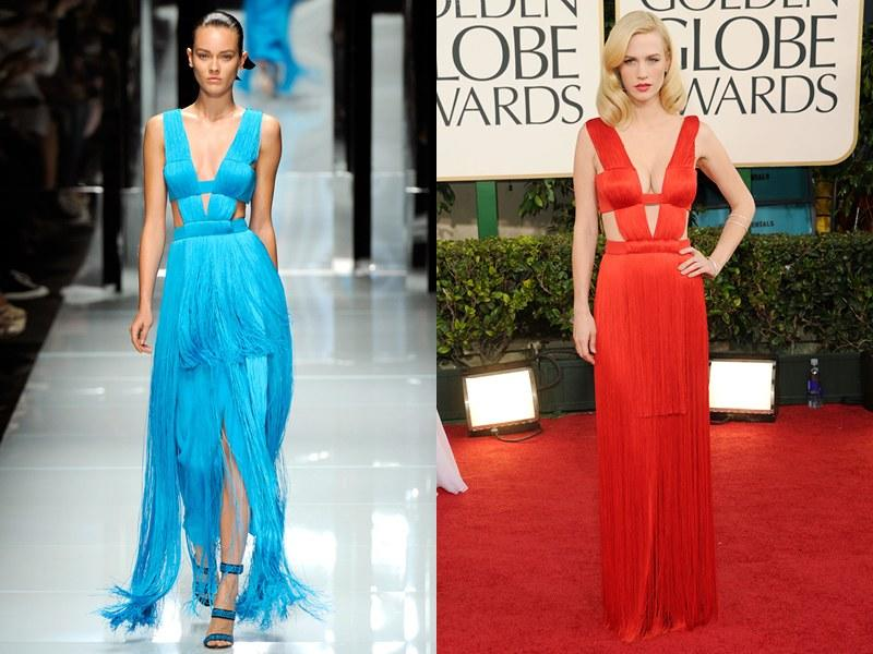 Versace Spring 2011; January Jones in 2011